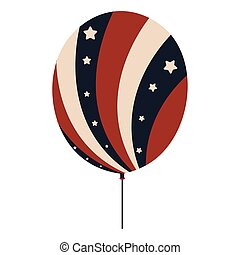 Balloon with flag