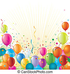 holiday celebration background - balloon with holiday ...