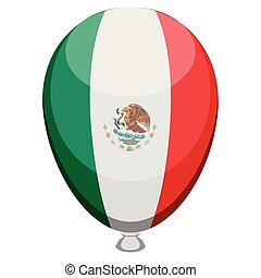 Balloon with the flag of Mexico
