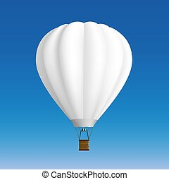 balloon., witte , liggen, illustration.