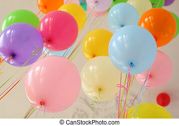 balloon yellow pink blue red green orange
