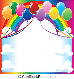 balloonbackground - 10 colorful balloons can be used for...