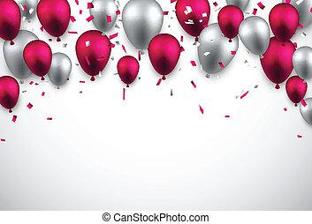 balloons., ünnepel, háttér