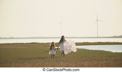 balloons, дочь, мама