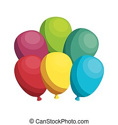 balloons air party isolated icon