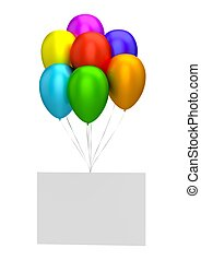 Balloons and Blank Card