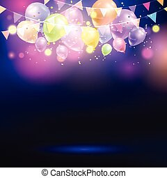 balloons and bunting background 0307