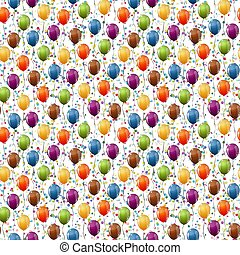 balloons and confetti background seamless