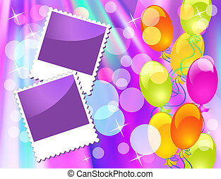 Balloons and photo frame
