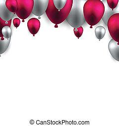 balloons., arco, celebrare, fondo