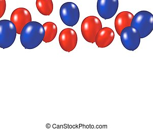 Balloons background vector illustration on a white