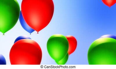 Balloons Backround (Loop) - Balloons flying in seamless loop...