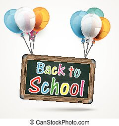 Balloons Board Back to School