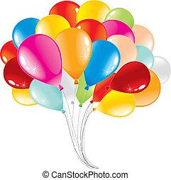 Balloons - Bunch of anniversary balloons-vector illustration