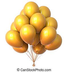 Balloons bunch yellow