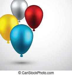 balloons., celebrare, fondo