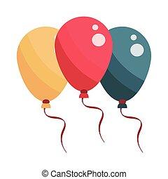 balloons celebration festive carnival flat design