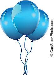 balloons - blue balloons