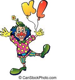 balloons., clown