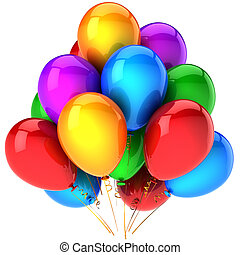 Balloons colorful party decoration