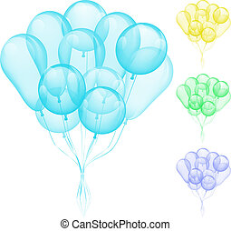 Balloons different colors - Vector Balloons different colors...