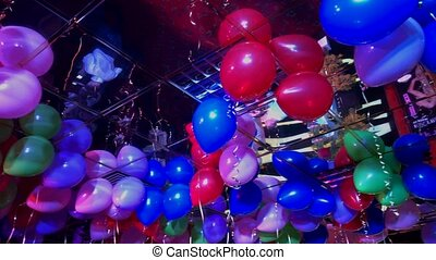 Balloons during the party at the event