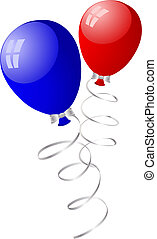balloons - Beautiful balloons in the air. Vector...