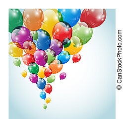 Balloons flying in the air. No mesh items. Screen blend mode. EPS 10 vector file. / Balloons