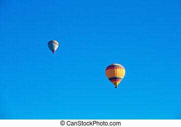 balloons flying over the Cappadocia
