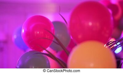 balloons - colorful balloons in the room under the ceiling