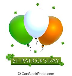 Balloons for St Patricks Day, vector art illustration.