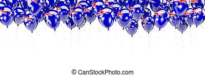 Balloons frame with flag of australia