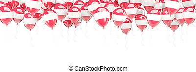 Balloons frame with flag of austria