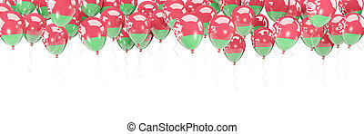 Balloons frame with flag of belarus