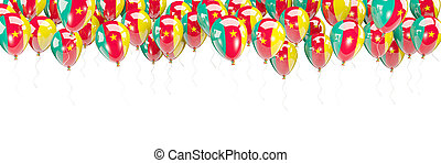 Balloons frame with flag of cameroon