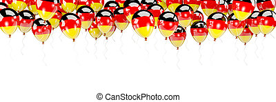 Balloons frame with flag of germany