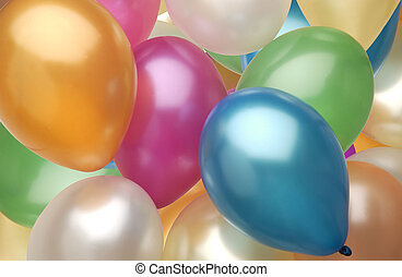 balloons. - Full color balloons cover the background. ...