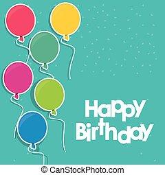 balloons happy birthday design