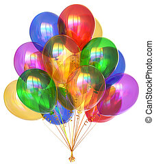 Balloons happy birthday party decoration colorful translucent