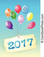Balloons  Happy New Year 2017.