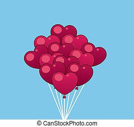 Balloons Hearts