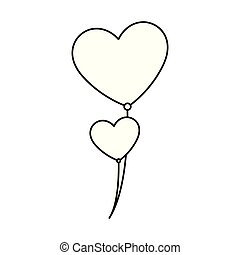 balloons helium with heart shape
