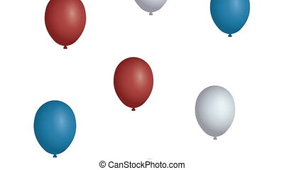balloons helium with united states of america flag colors