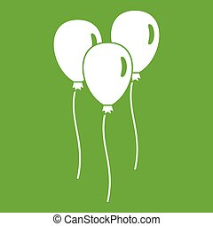 Balloons icon green