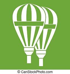 Balloons icon green
