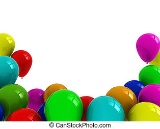 Balloons illustration - Colorful balloons isolated on white