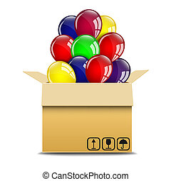 Balloons in a box