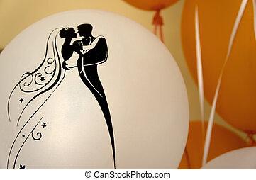 Balloons in a wedding