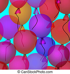 balloons in sky seamless pattern background