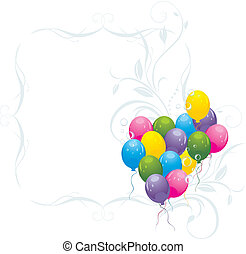 Balloons in the decorative frame
